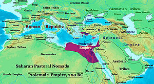 The Ptolemaic Empire 200BC. This was the biblical King of the South.
