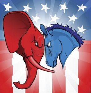 democrat-and-republican-symbols-of-a-donkey-and-elephant-facing-off