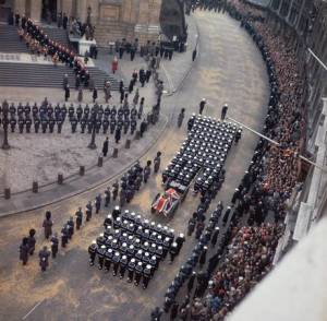Churchill's coffin