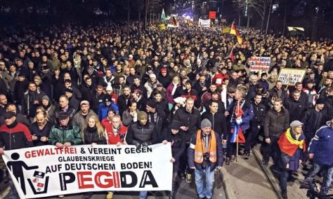 Pegida rally