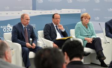 Merkel Putin Hollande