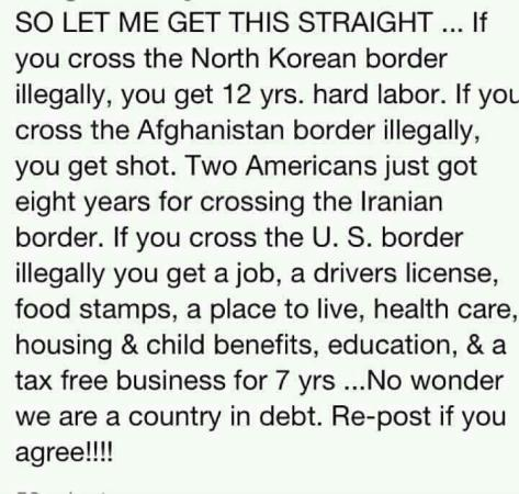 Illegal aliens in diff countries
