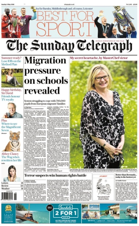 Sunday Telegraph 5:8:2016