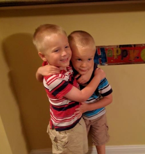 Ethan and Evan on their 4th birthday